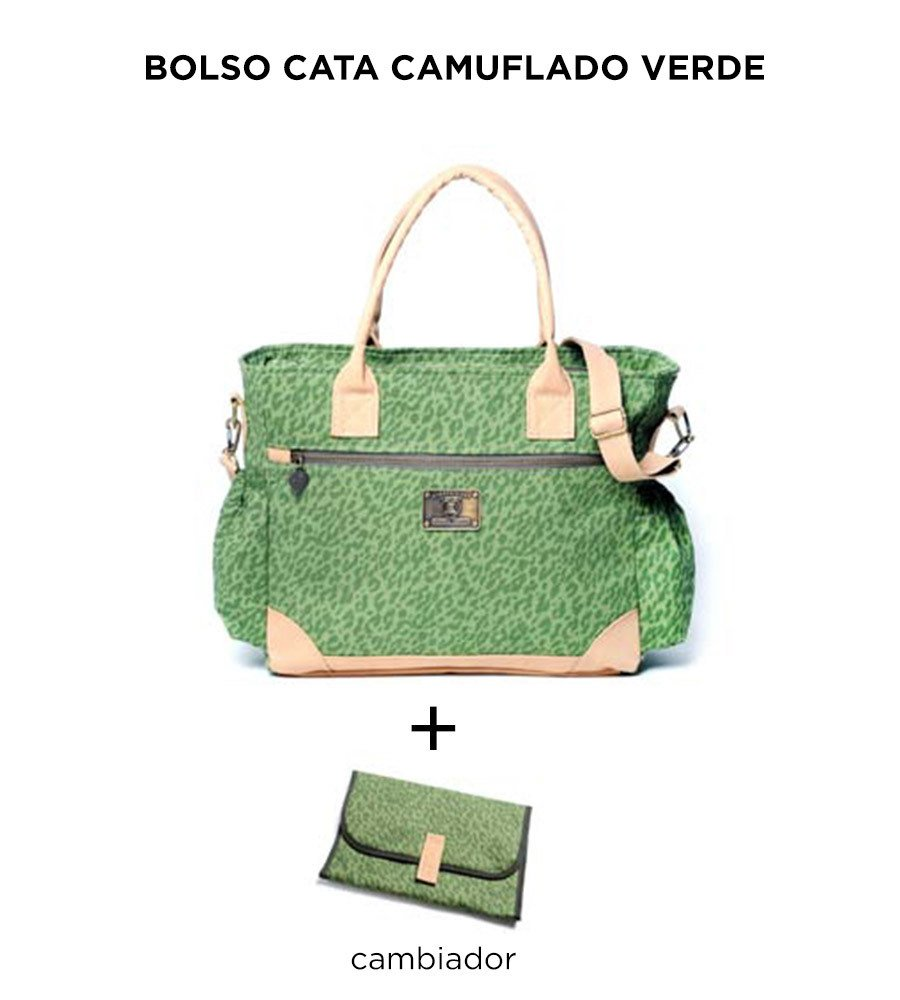 Bolso Cata Camuflado Verde de Happy Little Moments - comprar online