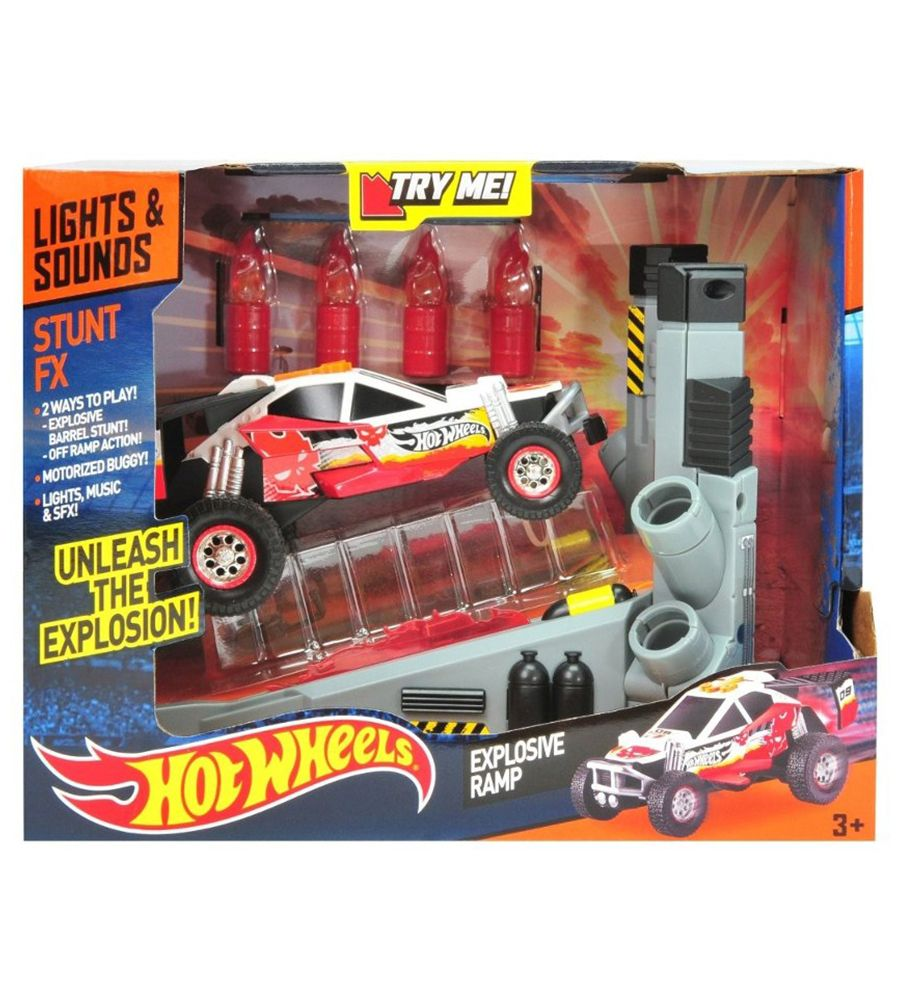 Auto juguete Hot Wheels FX Stunt Explosive ramp