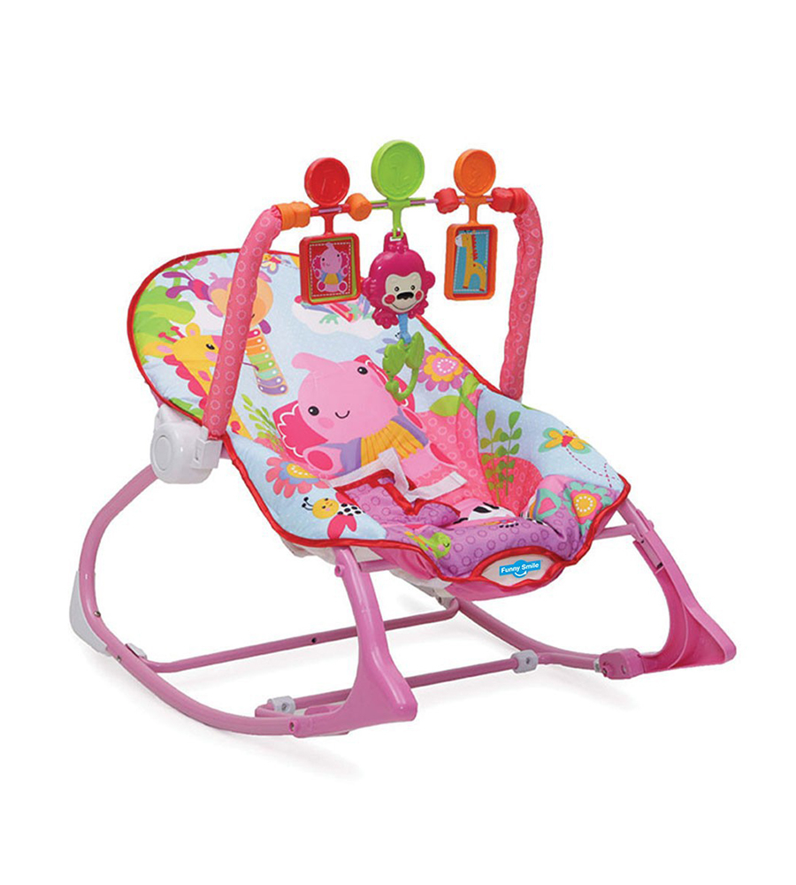 Silla mecedora infant to toddler rocker rosa Funny Smile simil Fisher Price - comprar online