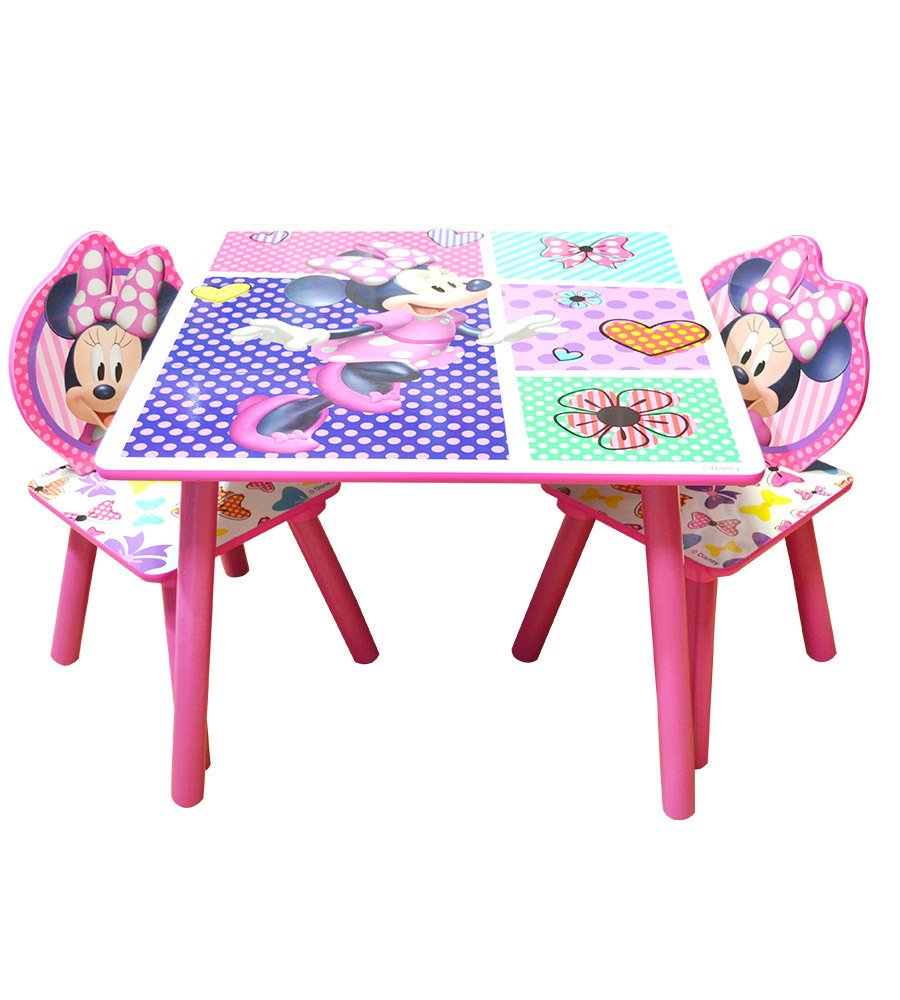 Set mesa y sillas infantil Disney Minnie - Mickey - Frozen - Cars