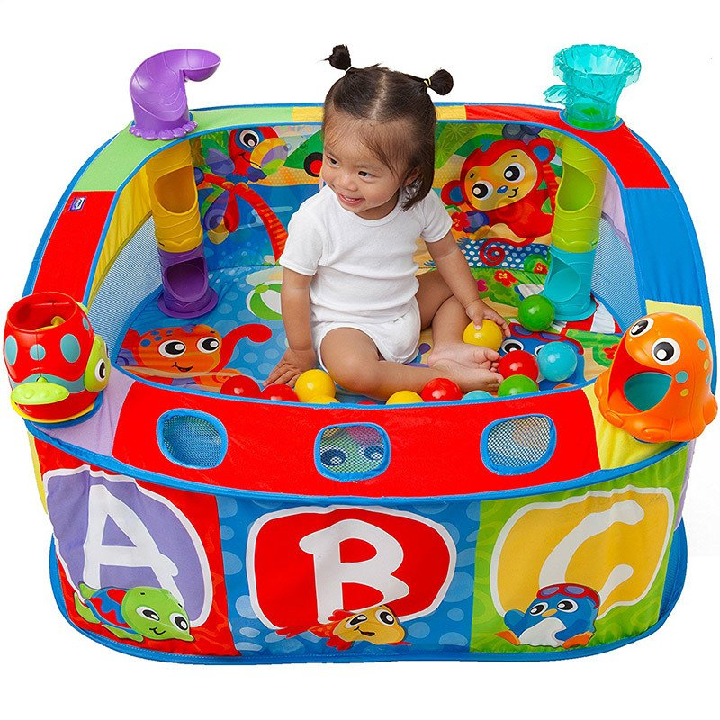 Gimnasio pelotero corralito Playgro Pop and Drop Ball Activity Gym