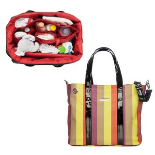Imagen de Bolso Maternal Happy Little Moments  SHOPPING BAG ECO CUERO varios colores