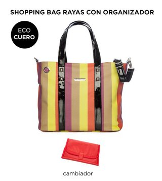 Bolso Maternal Happy Little Moments  SHOPPING BAG ECO CUERO varios colores - tienda online