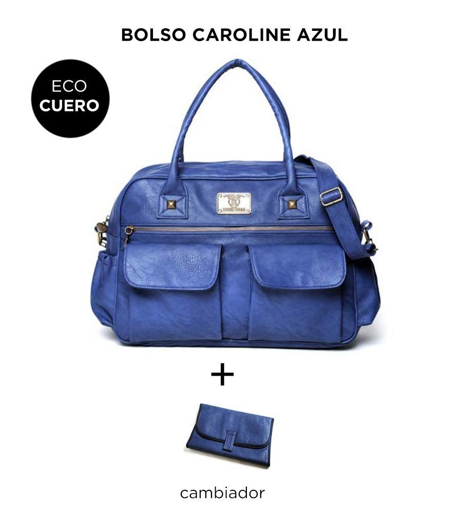 WINTER SALE - Bolso Maternal Happy Little Moments CAROLINE ECO CUERO Varios Colores