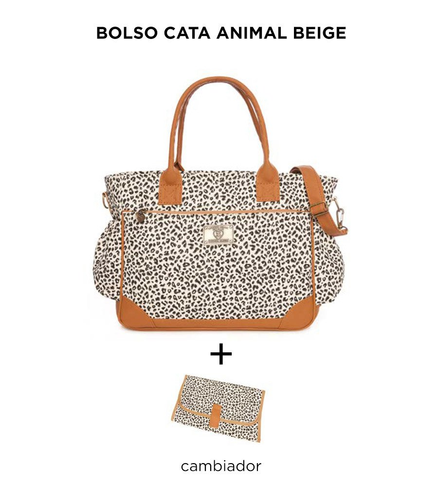 Bolso Cata Animal Beige de Happy Little Moments - comprar online