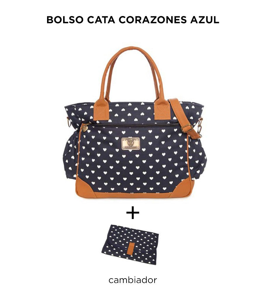Bolso Cata Corazones Azul de Happy Little Moments - comprar online
