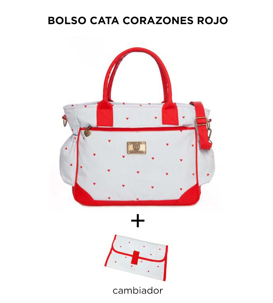 Bolso Cata Corazones Rojo de Happy Little Moments - comprar online