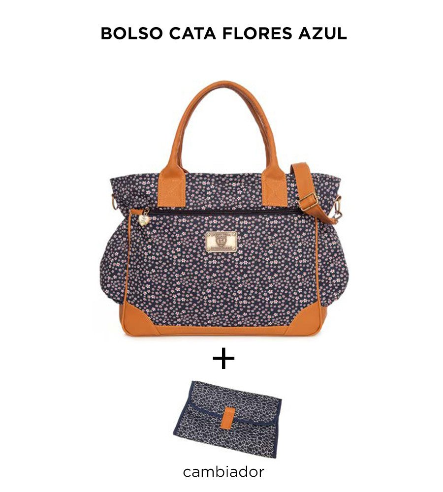 Bolso Cata Flores Azul de Happy Little Moments - comprar online