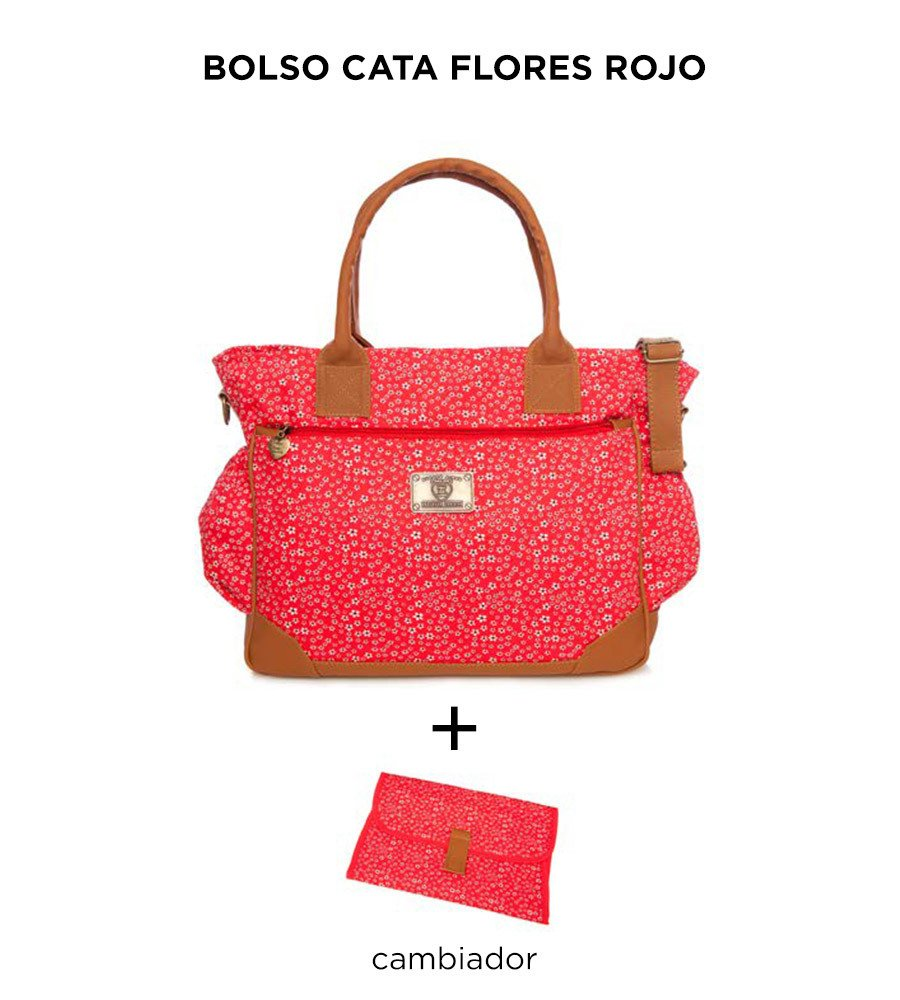 Bolso Cata Flores Rojo de Happy Little Moments - comprar online