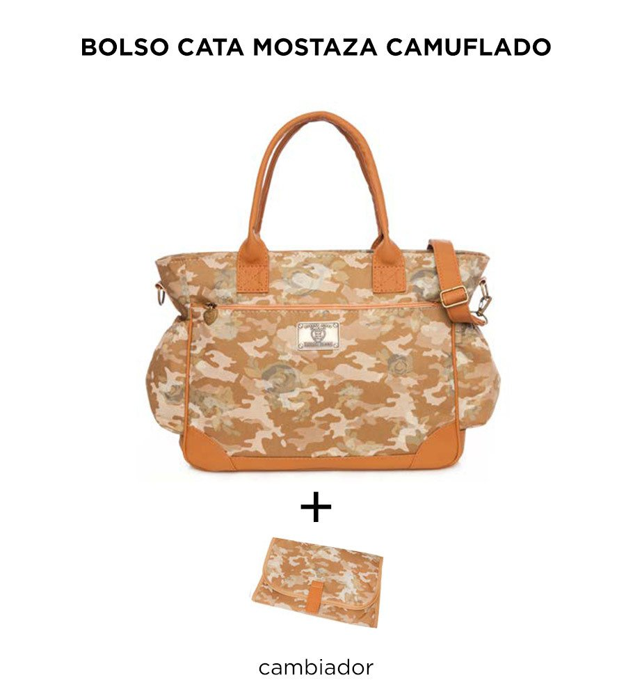 Bolso Cata Mostaza Camuflado de Happy Little Moments - comprar online