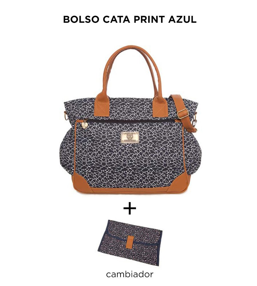 Bolso Cata Print Azul de Happy Little Moments - comprar online