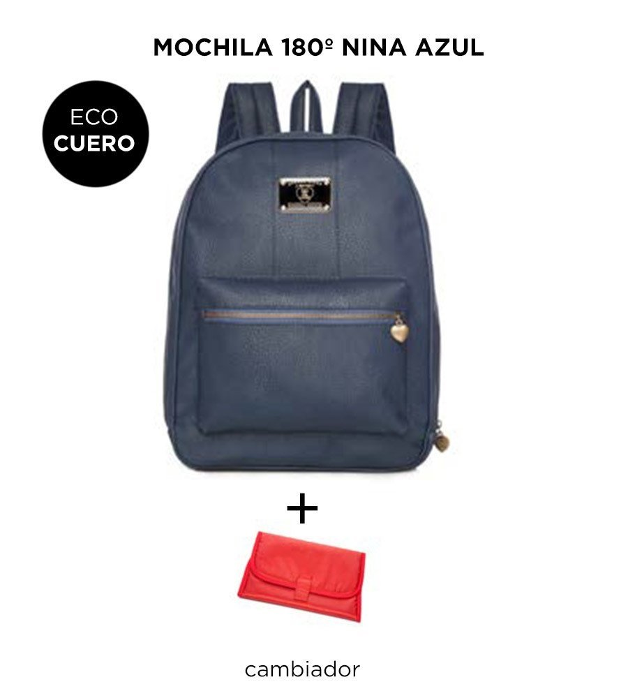 WINTER SALE - Mochila Maternal Happy Little Moments 180º NINA ECO CUERO Varios Colores