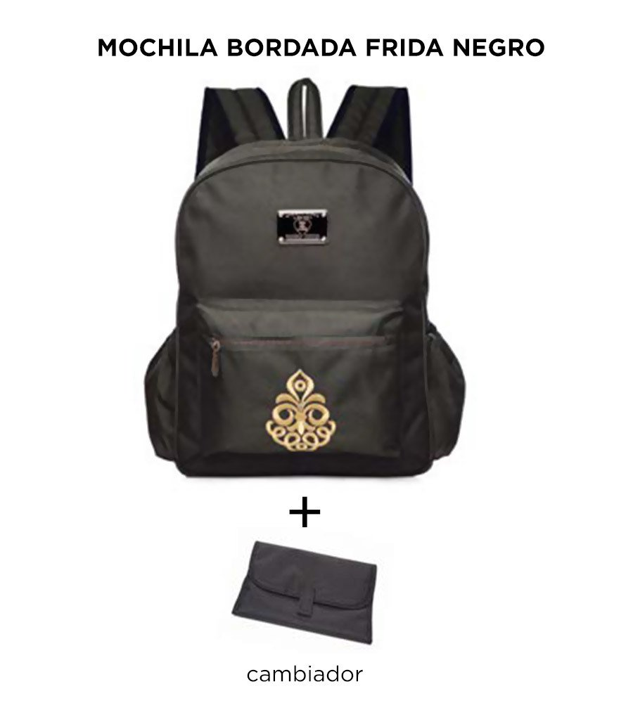 Mochila Maternal Happy Little Moments BORDADA FRIDA Varios Colores
