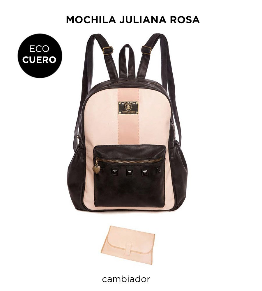 Mochila Maternal Happy Little Moments JULIANA ECO CUERO varios colores