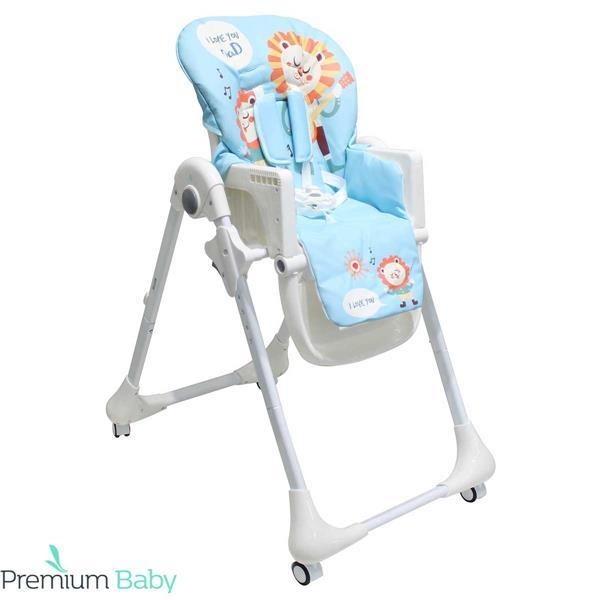 PREMIUM BABY SILLA DE COMER CON ALTURA Y RECLINABLE LEATHER
