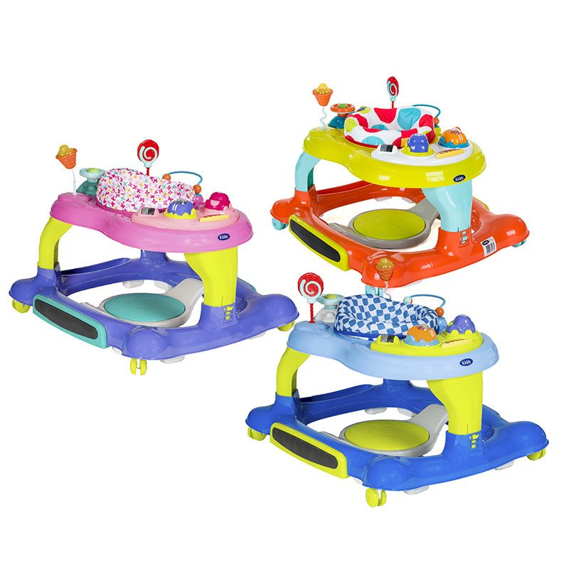 Andador Multi Activity 3en1 Kiddy Asiento giratorio 360º
