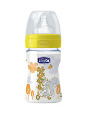 CHICCO Mamadera Well being silicona 150ml