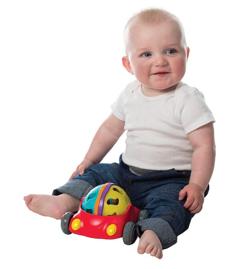 Autito Sonajero Rattle and Roll Car Playgro