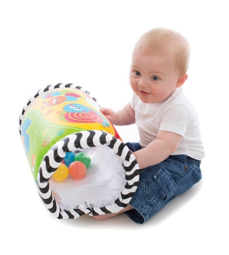 Gimnasio inflable Playgro Tumble Jungle Musical Peek in Roller