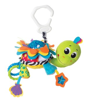 Peluche Mordillo colgante Flip the Turtle Playgro en internet