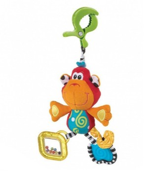 Peluche sonajero mordillo Dingly Dangly Curly the Monkey Playgro - comprar online