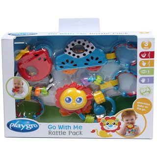 Gift Pack juguetes mordillos Playgro Go With Me Rattle Pack - comprar online