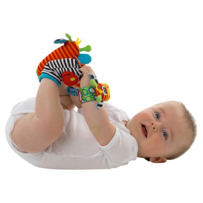 Peluche titeres mano y pies playgro  Jungle Wrist Rattle & Foot finder