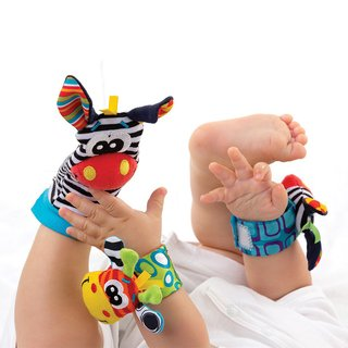 Peluche titeres mano y pies playgro  Jungle Wrist Rattle & Foot finder en internet