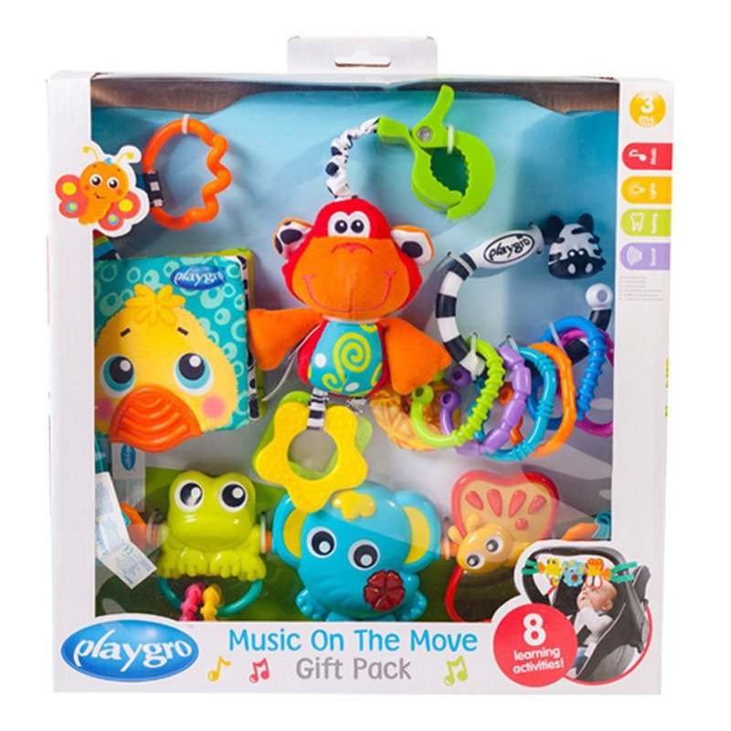 Set Juguetes mordillo Playgro Music on the Move Gift Pack