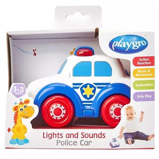 Juguete auto con luces y sonidos Playgro Lights and sound Police Car - Punto Bebe Baby Store