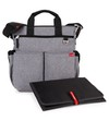Bolso maternal morral con cambiador heather grey Skip Hop