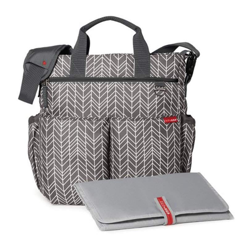 Bolso maternal morral con cambiador Grey Feather Skip Hop