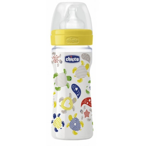 CHICCO Mamadera Well being silicona 250ml