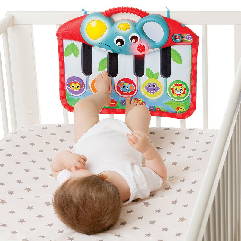 Cunero musical piano Playgro MUSIC AND LIGHT PIANO AND KICK PAD