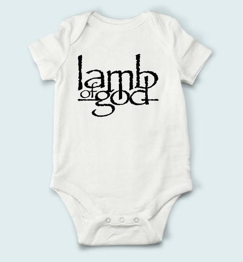 Body de Bebê Lamb Of God - LA0001bb na internet