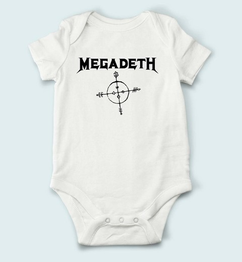 Body de Bebê Megadeth - MG0001bb na internet
