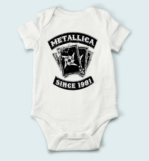 Body de Bebê Metallica - ME0004b na internet