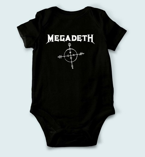 Body de Bebê Megadeth - MG0001bb - ZN STORE