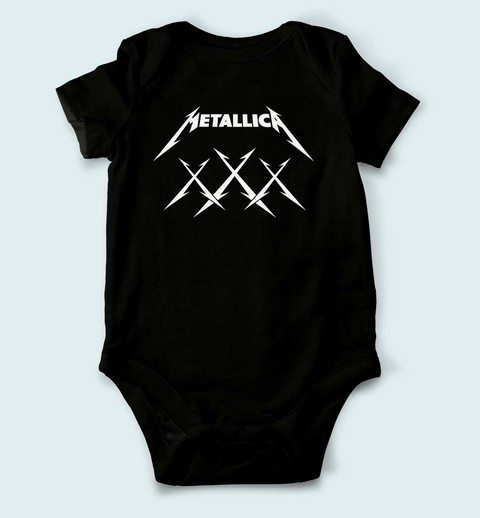 Body de Bebê Metallica - ME0002bb - ZN STORE