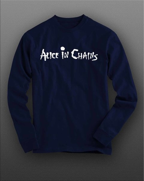 Camiseta Manga Longa Alice in chains - ASML0002 na internet