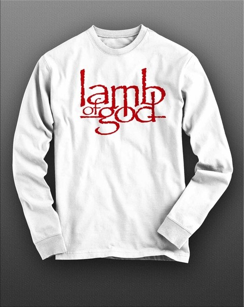 Camiseta Manga Longa Lamb Of God - LAML0003 na internet