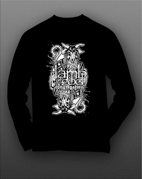 Camiseta Manga Longa Lamb Of God - LAML0002 na internet