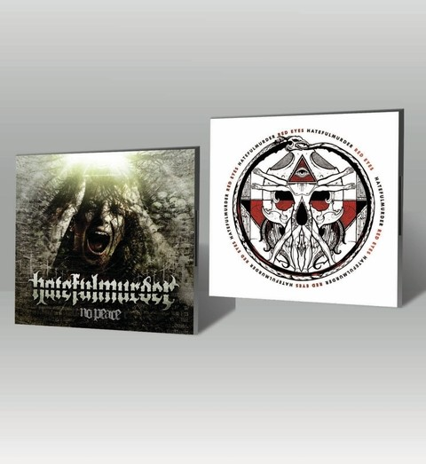 KIT CD Red Eyes + CD No Peace - Hatefulmurder - HFKIT0003 - comprar online