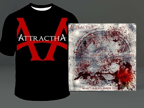 KIT Camiseta + CD Attractha - ATTKIT0001