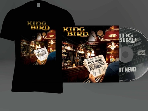 KIT Camiseta + CD King Bird autografado - GOT NEWZ - MSKIT0001