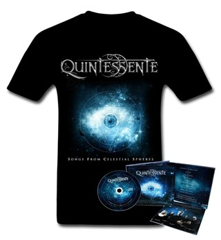 KIT Camiseta + CD Songs From Celestial Spheres  - Quintessente - QUKIT0001