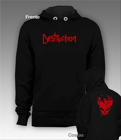 Moletom Canguru Destruction - DEMO0003 - ZN STORE