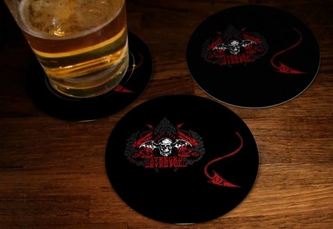 Kit - Bolacha de Chopp Avenged Sevenfold- AVBC0003