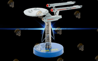 U.S.S. ENTERPRISE NCC-1701 CON RESORTE