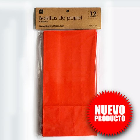 Pack 12 bolsitas papel Rojo + 12 stickers en internet